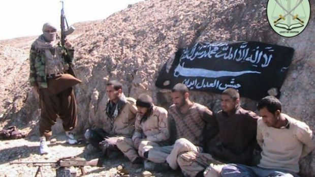 Five Iranian border gaurds kidnapped by militants.