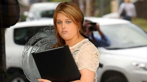 Accused driver: Talia Jade Van-Rysewyk outside Wollongong Police Station.