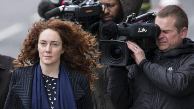 Former News International chief executive Rebekah Brooks arrives at the Old Bailey on Wednesday.