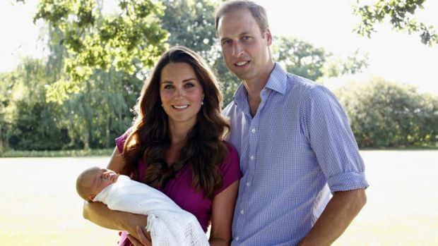 Coming to Canberra ... Catherine, Duchess of Cambridge and Prince William, Duke of Cambridge with their son, Prince ...