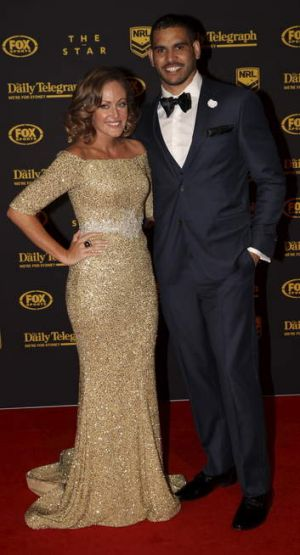 Parents-to-be: Greg and Sally Inglis at the Dally M awards last year.