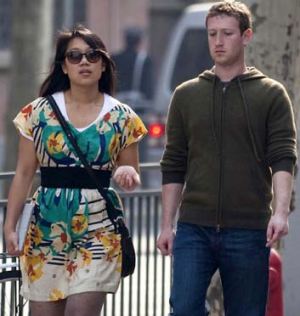 Mark Zuckerberg and his wife Priscilla Chan.