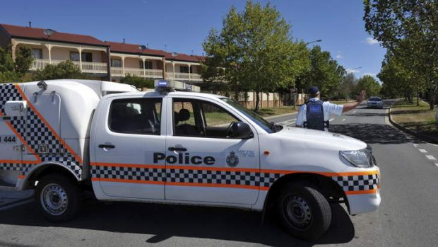 Police were looking for the stolen car in Gungahlin.