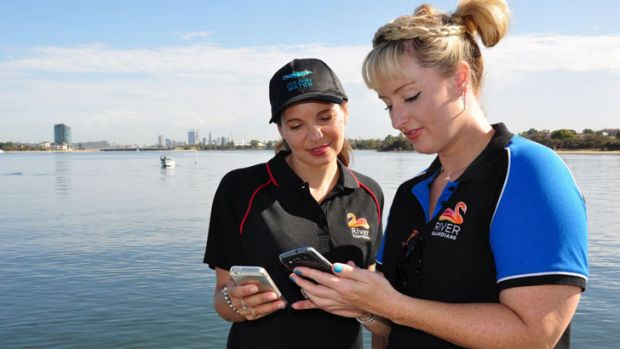 Trudy Klessens and Marnie Giroud at Deep Water Point.