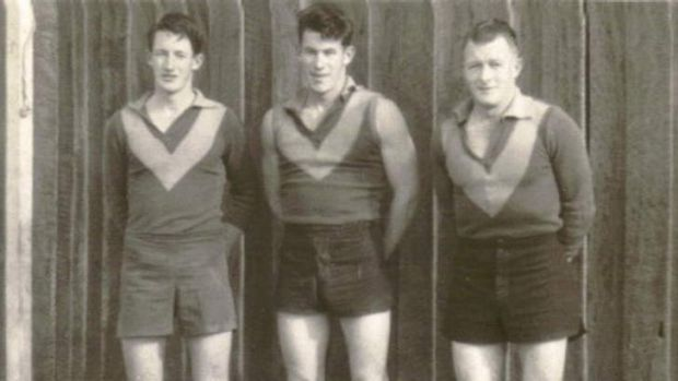 Football family: McCartney's father Graeme (right) and uncles Doc (left) and Billy (middle). Graeme played one game for ...