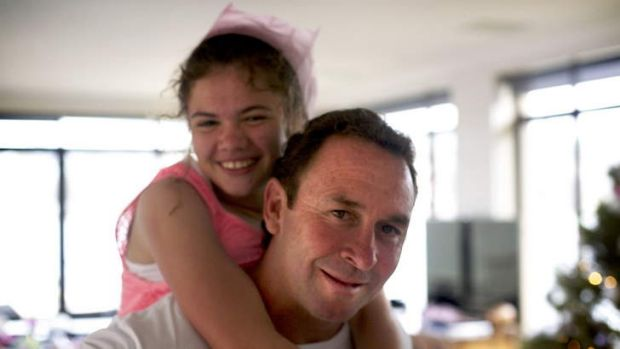 Ricky Stuart and his daughter Emma, pictured last Christmas.
