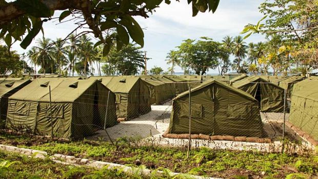 Protests: The Manus Island Regional Processing Facility.