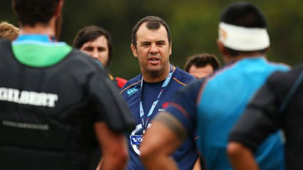 Grand plan unfolding: Waratahs coach Michael Cheika.