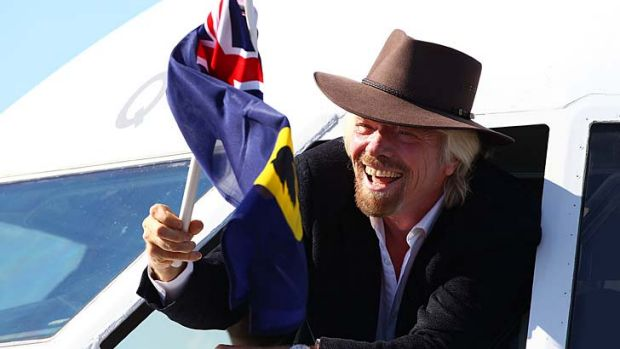 In charge: Sir Richard Branson in Perth.