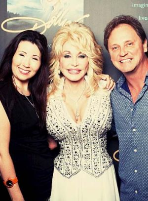 Dollywood Down Under: from left, Biana Moon , Dolly Parton, and Kent Wells.