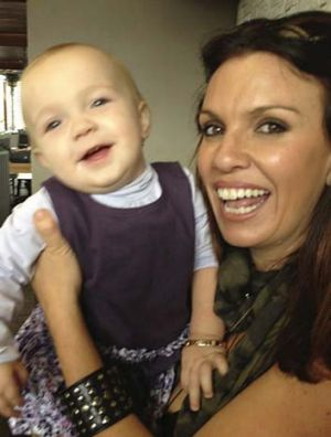 Bond: Nicole Perko, with her daughter, had cancer surgery.