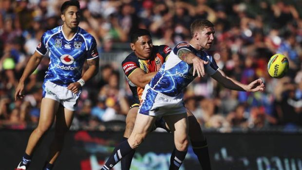 Keeping his options open: Sam Tomkins.