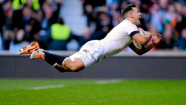 Care flight: England's Danny Care dives in to score the decisive try against Ireland.