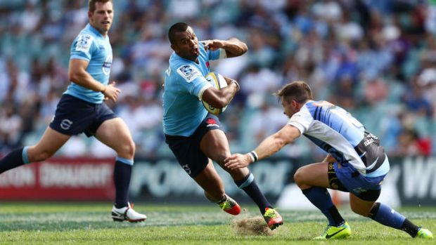 Strong opening: Kurtley Beale impressed for the Waratahs.