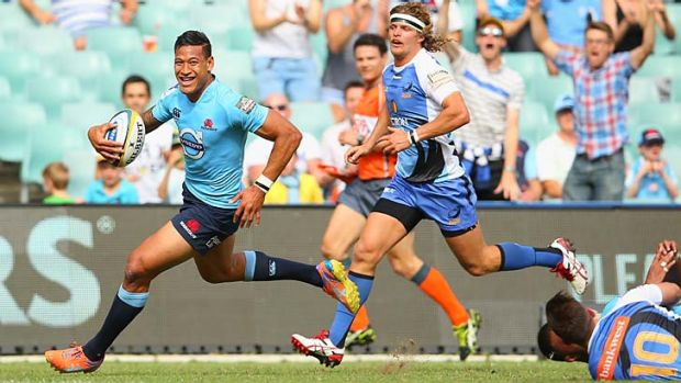 Bright spot: Israel Folau has started the season at a rate of knots.