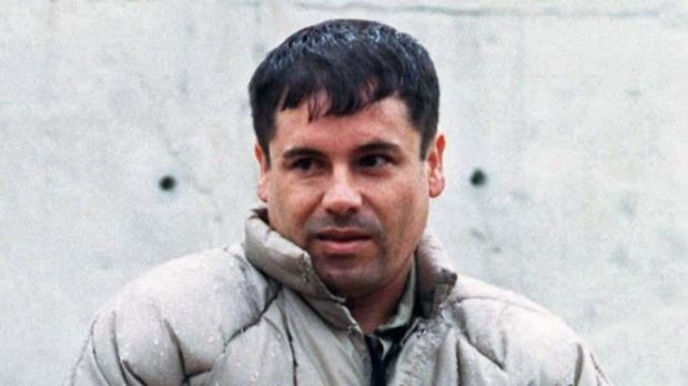 Guzman, pictured in 1993, at a maximum security prison in Almoloya de Juarez, Mexico.