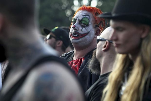 There's a clown in every crowd... Soundwave 2014.