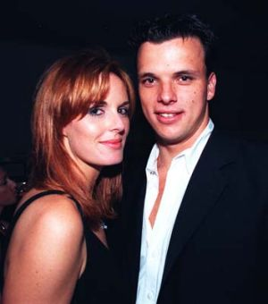 Dawson with then boyfriend Scott Miller in 1997.