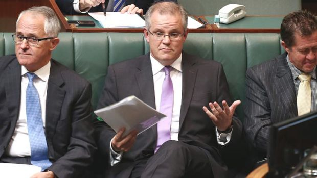 Under attack: Scott Morrison during Question Time on Monday.