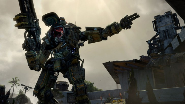 Titanfall is a fast-paced mix of nimble infantry versus two-storey tall battle robots.