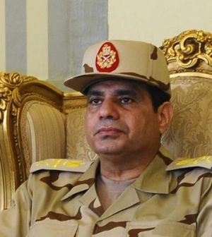 Real power: Egypt's de facto ruler, army chief Abdel-Fattah al-Sisi.