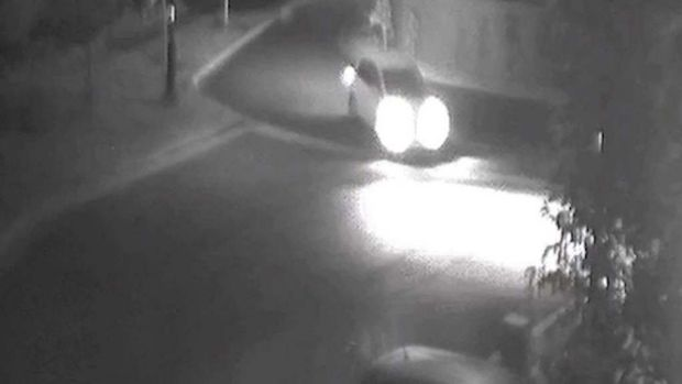 CCTV vision shows a car driving along Bardo Circuit in Revesby Heights about the time Mahmoud  Hamzy was shot dead.