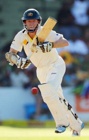 Focused: Australian opening batsman Chris Rogers.