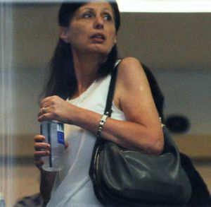 Questioned: Carmen Attard, the sister of Joe Camilleri, arrives at an ICAC hearing on Tuesday.