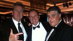Mr O'Farrell, left, and Mr Di Girolamo, right at an Italian Chamber of Commerce function in 2011. The Mayor of Ipswich, ...