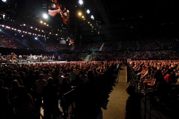 Bruce Springsteen Concert at Brisbane Entertainment Centre, Boondal. Bruce Springsteen performs at the Brisbane ...