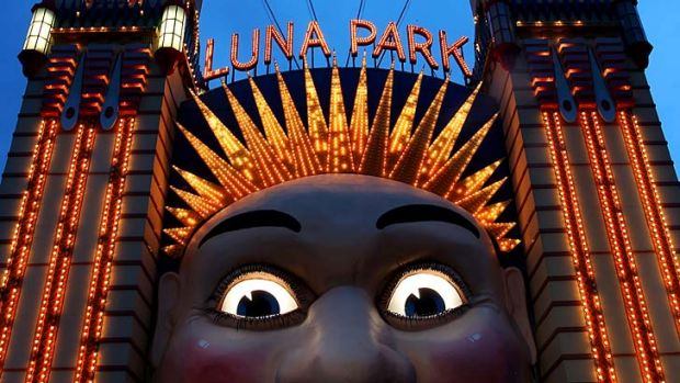 Steady as she glows: Luna Park is not the same place it once was.