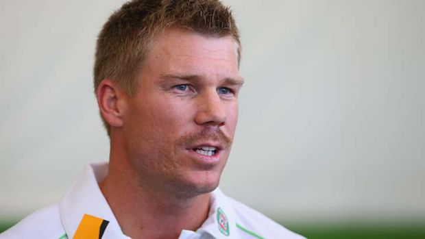 David Warner: Australia's batsman is instinctive with the media as he is at the crease.
