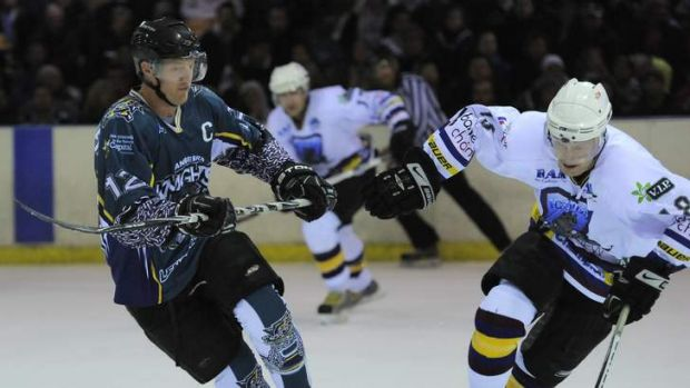 Australian Ice Hockey League match at Phillip between the Canberra Knights and the Sydney Ice Dogs.