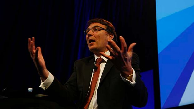 Combative strategy: Telstra boss David Thodey is willing to go to court to protect his company's network.