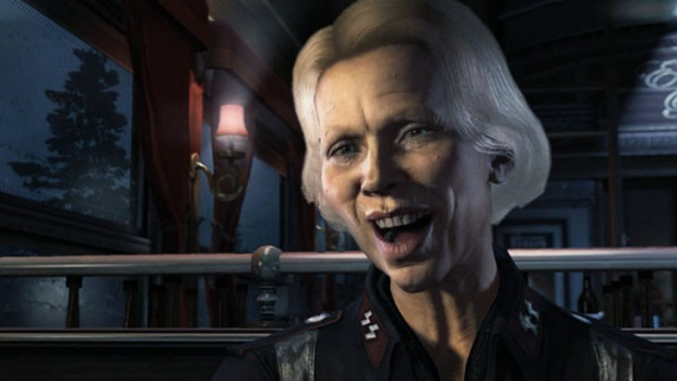 My, that's a flattering freeze-frame from Wolfenstein: The New Order. Care to say something funny about it?