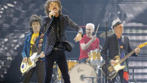 The Rolling Stones perform in Japan for the first time in eight years, during their concert at Tokyo Dome in Tokyo on ...