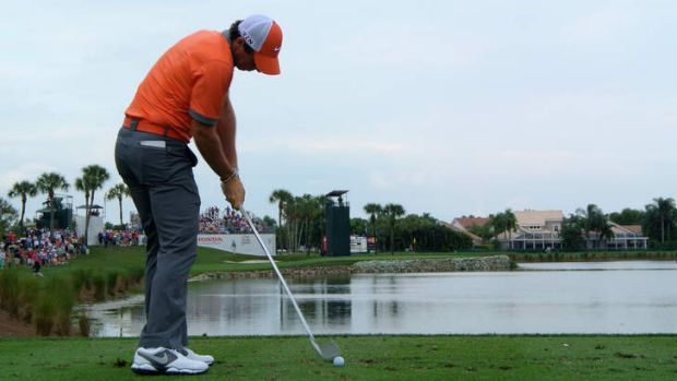 No obstacle: Rory McIlroy on his way to a seven-under par 63 in Florida.