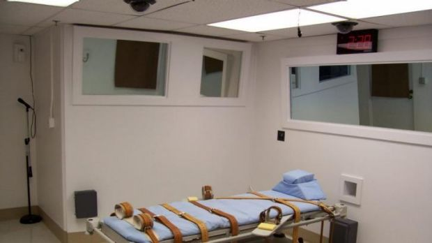 Florida's  Department of Corrections lethal injection gurney.