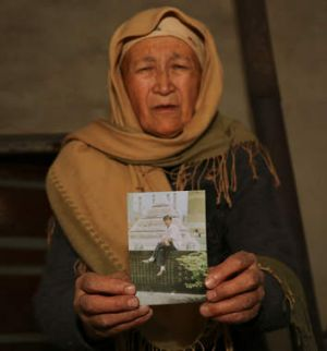 Grave fears: Tursungul Turdi has had no news of her son since he went missing during the Urumqi riots of July 5, 2009.