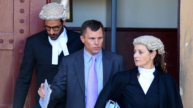On trial: Paul Mulvihill leaves court.