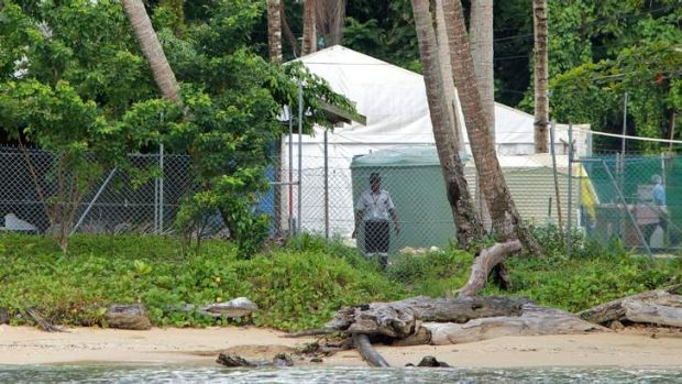 A G4S security guard at the Manus Island detention centre.