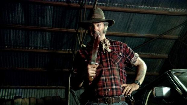 Call that a knife? John Jarratt in <i>Wolf Creek 2</i>.