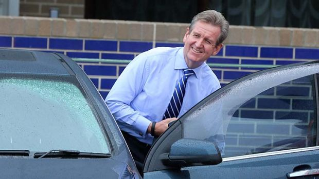 Still favoured: The Nielson poll shows Barry O'Farrell to be the preferred NSW leader by 50 per cent of voters.