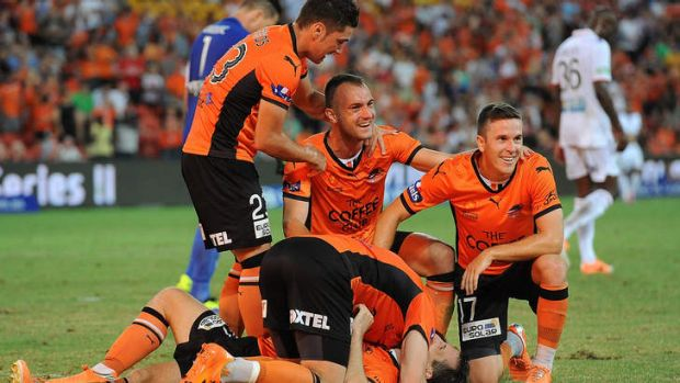 Relief: Brisbane were happy to arrest a dip in form with a much-needed win.
