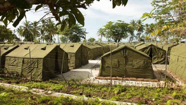 Asylum seeking is big business: Tents on Manus Island.