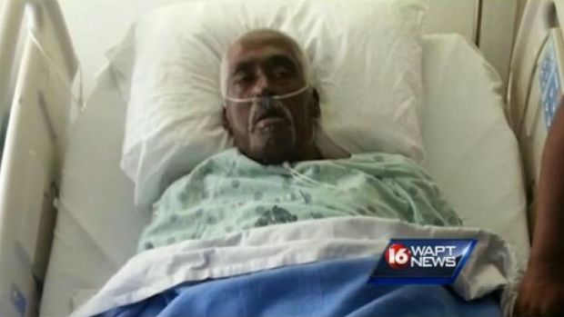 Not dead yet: Farmer Walter Williams makes it onto WAPT News after kicking his way out of a body bag at Porter and Sons ...