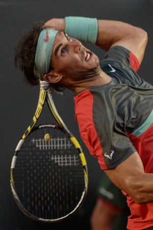 Up for the challenge: Spain's Rafael Nadal.