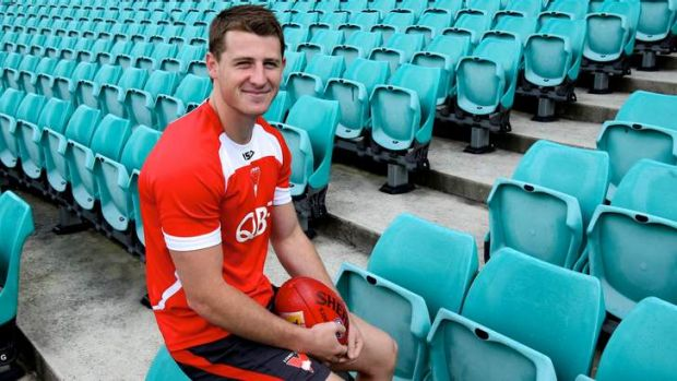 Super quick: Sydney Swans youngster Harry Cunningham.