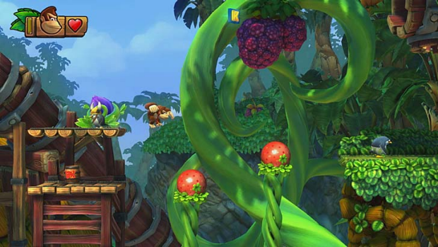 A screenshot of Donkey Kong Country: Tropical Freeze.