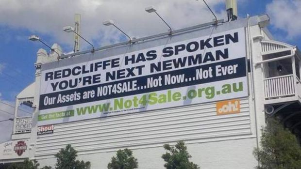 Not 4 Sale billboard at Red Hill.